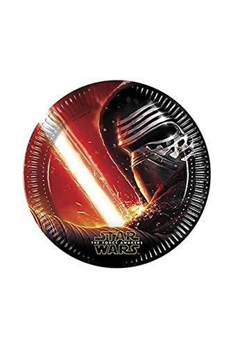 Star Wars Lot de 8 Assiettes de fête 23cm, Motif 7.
