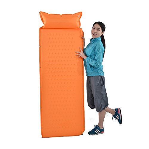 LXLA- Individuelle Automatische Aufblasbare Kissen Im Freien Feuchtigkeits Matte verdicken Zelt Isomatte Innen Siesta Teppich 190 * 63 * 2,5 cm ( Farbe : Orange ) (Grill-matte Diamant-küche)