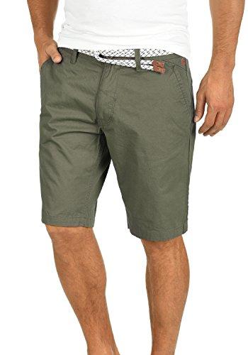 Blend Ragna Herren Chino Shorts Bermuda Kurze Hose Mit Kordel-Gürtel Aus 100% Baumwolle Regular Fit, Größe:S, Farbe:Dusty Green (70595) -
