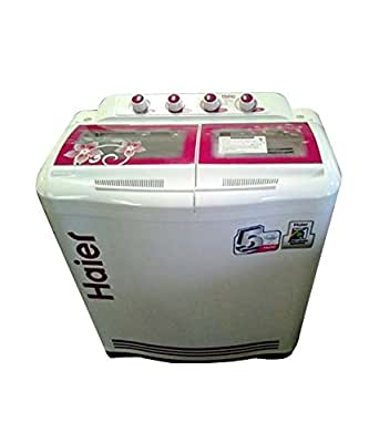 Haier XPB76-113S Semi-automatic Top-loading Washing Machine (7.6 Kg, Pink and White)
