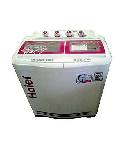 Haier XPB76-113S Semi-automatic Top-loading Washing Machine (7.6 Kg, Pink and...