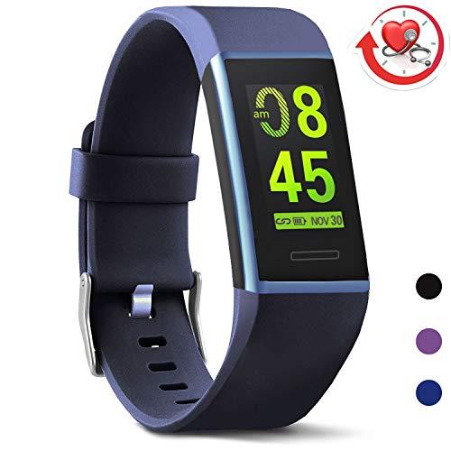 MorePro Fitness Armband mit Pulsmesser, Fitness Tracker Wasserdicht IP67 Aktivitätstracker Pulsuhren Smartwatch Schrittzähler Uhr Vibrationsalarm Anruf SMS Whatsapp Beachten für iOS Android