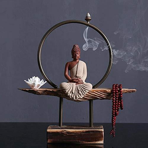 GFF Adornos Zen Escultura Cerámica Buda Sala Estar
