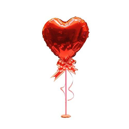 KOBWA Globos 3D en Forma de Corazón con Soporte de Pilar, Flor de Cinta, Palo de Globo, Soporte de Mesa de Mesa con Base de Flores, Perfecto para Cumpleaños, Bodas, Compromiso, Fiesta de Bachelorette