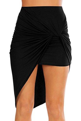 2d09d22be3a3 ❤ Janisramone Women Cut Out Ruched Jersey Side Split Drape Long ...