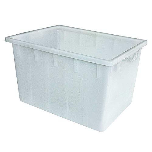 Kunststoffwanne/Wanne 170 Liter, LxBxH 800 x 600 x 490 mm, PE-HD Kunststoff, weiß, lebensmittelecht