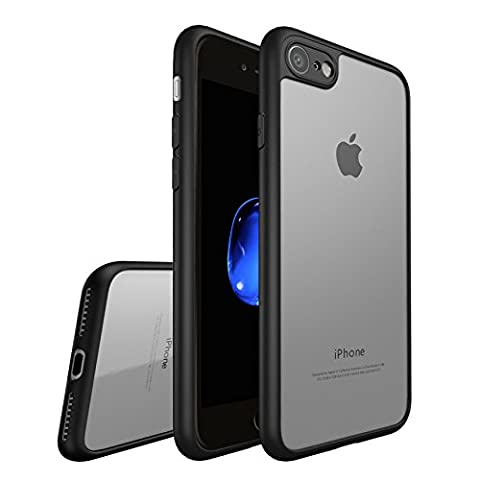 Coque iphone 7, Leathlux Transparent PC & Silicone Etui Antichoc Protection Bumper Anti-rayures Arrière Shell Ultra Mince Housse pour iphone 7 4.7