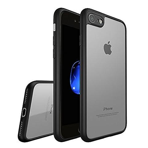 Coque iphone 7 Plus, Leathlux Transparent PC & Silicone Etui Antichoc Protection Bumper Anti-rayures Arrière Shell Ultra Mince Housse pour iphone 7 Plus 5.5