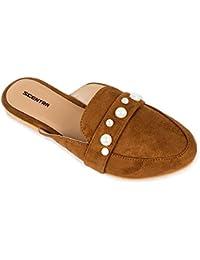 SCENTRA Brown Toe Slipper