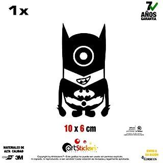 Artstickers Sticker Minion Batman, selbstklebend vinilo- schwarz-1Stück 10cm x 6cm
