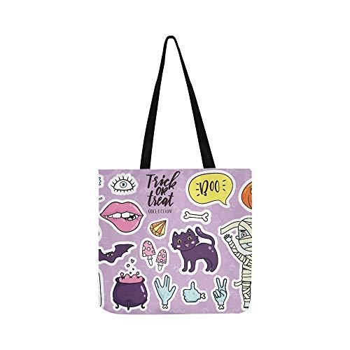 y Kawaii Cartoon Doodle Leinwand Tote Handtasche Umhängetasche Crossbody Taschen Geldbörsen Für Männer Und Frauen Einkaufstasche ()