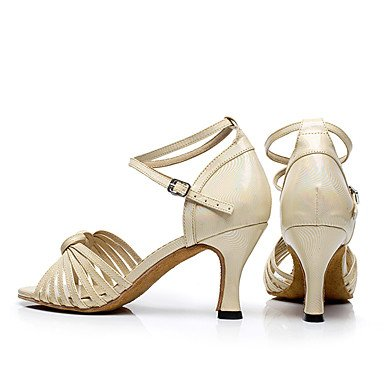 Scarpe da ballo-Personalizzabile-Da donna-Balli latino-americani / Jazz / Sneakers da danza moderna / Moderno-Quadrato-Finta pelle-Nero / Black