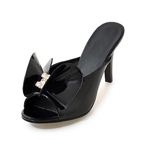Versione coreana delle pantofole in estate/all'aperto pantofole/Strass fiocco tacco alto sandali A