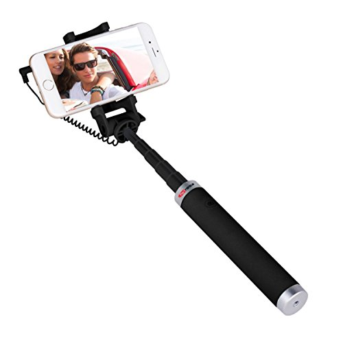 Portronics POR 853 Groupy Portable Wired Selfie Stick  Black