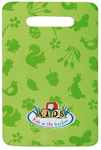 Esschert Design - Inginocchiatoio da giardino per bambini, 30 cm x 20 cm x 2 cm, colore verde