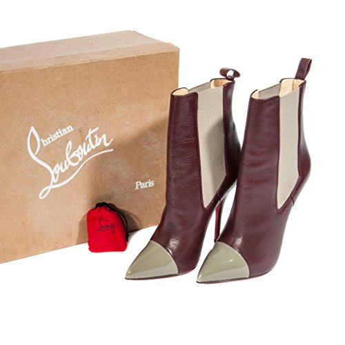 christian-louboutin-womens-maroon-and-gray-leather-ankle-boots-size-39