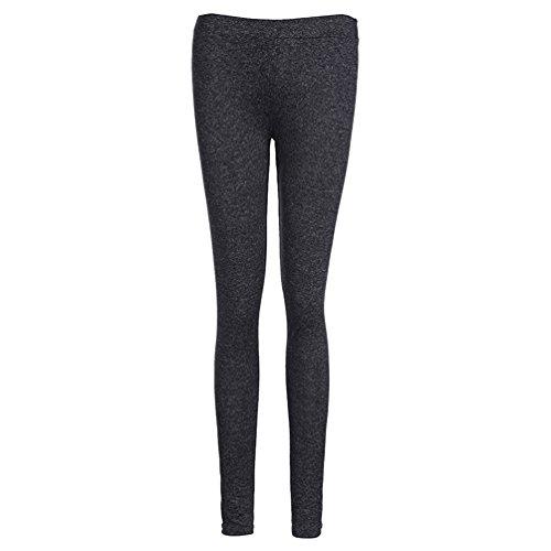 ZKOO Leggings de las Mujeres Alta Cintura Pantalones de Yoga Sport Correr Gimnasio Entrenamiento Pantalon Mallas Elastico Gris