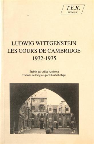 Les cours de Cambridge (1932-1935)