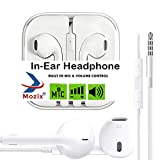 #5: Mozix Headphones with Mic for iPhone, Apple, iPhone 4 / 4s / 5 / 5s / 6 / 6s iPad with 3.5mm Jack with Mic and Volume Button Earphone with Mic