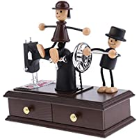 ZIXNXFY Caja De Música Retro Máquina De Coser Mecánica Estilo De Música Caja Juguete Decoración Escritorio