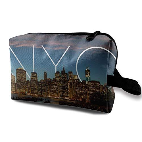 New York City Kosmetiktaschen Makeup Organizer Tasche Reißverschluss Geldbörse Handtasche Clutch Bag - Patent-make-up-tasche