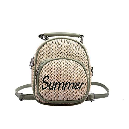 Ears Damen Retro Strandtasche Gewebte Umhängetasche Feste Hobos Handtasche Plus Size Rucksack Gewebte Tasche Strandtasche Beiläufige Messenger Bag Umhängetasche Geldbörse Brieftasche