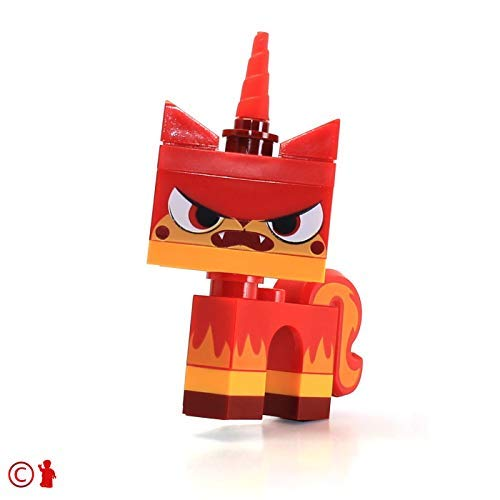 LEGO Movie Angry Kitty Minifigure Red Unikitty Microbuild by...