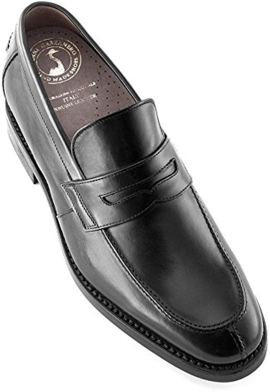 Masaltos Zapatos de Hombre con Alzas Que Aumentan Altura Hasta 7 cm. Fabricados EN Piel. Modelo Stanford