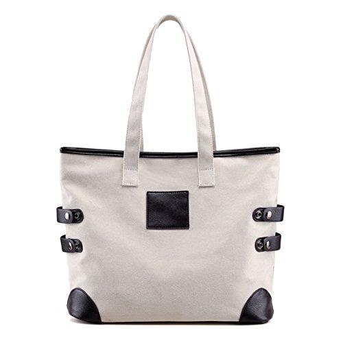 Ladies singola borsa a tracolla,borsa di tela,borsetta-Blu IL Riso Bianco