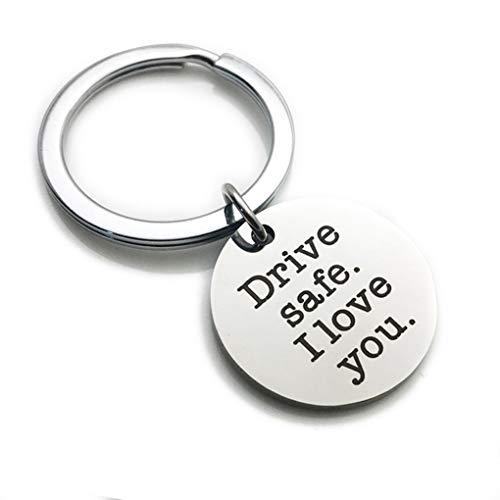 Traline Safe Drive Te Amo Key Chain Camión Conductor