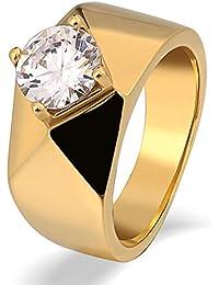Aooaz Gioielli anello fascia anello acciaio uomo Liscio Artiglio del prisma con CZ anello gotico anelli fidanzamento anello biker