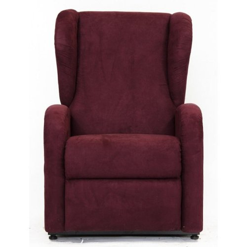 Der Sessel mit Aufstehhilfe mit 1 Motor WIEN. Bezug aus roter Mikrofaser