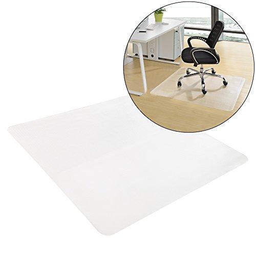 [neu.haus] Bodenschutzmatte (90 x 90 cm)(halbtransparent) für Hartböden aller Art / Stuhlmatte / Kratzschutz / Bodenschutz