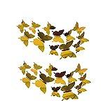 24PCS 3D Schmetterling Aufkleber Wandsticker Silberne Spiegeldekoration DIY Kunstdekor Handwerk Wandaufkleber für Kinder Kinderzimmer Schlafzimmer Wohnzimmer Party und Geburtstag Dekoration