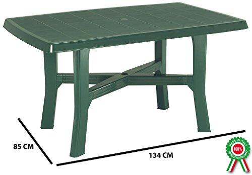Tavolo Da Giardino Verde.Tavolo Tavolino Rettangolare In Resina Di Plastica Verde Per