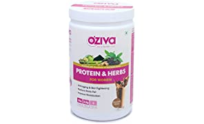 Oziva Protein & Herbs Whey Protein Powder With Multivitamins For Women - Chocolate, 17 Servings - 500 Gm