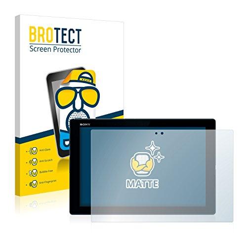 BROTECT Entspiegelungs-Schutzfolie kompatibel mit Sony Xperia Z4 Tablet (2 Stück) - Anti-Reflex, Matt