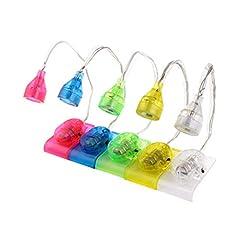 Idea Regalo - LEDMOMO - Mini lampada LED a clip, da lettura, portatile, a libro, luce flessibile, multifunzione, segnalibri e scrivania, 5 pezzi