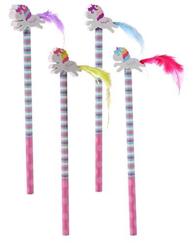 Set de 4 lápices Unicornio - Rainbow/Arco Iris