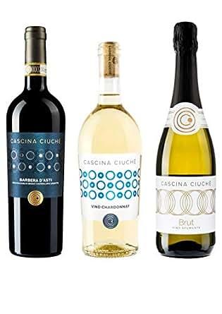 Cascina Ciuchè Barbera, Chardonnay, Pinot Chardonnay Spumante - Confezione da 3 bottiglie