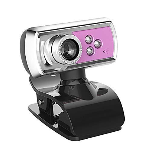 FOWYJ Ultra HD Startseite Webcam, LED-Nachtsicht Einstellbar USB-Kamera, Mikrofon-Funktion Kamera Mit PC Computer-Peripherie Für Innen Und Außen,A
