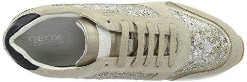 Geox - D Airell C, Scarpe da ginnastica Donna Beige (Lt Taupec6738)
