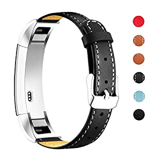 Mornex Strap Compatible Alta and Alta HR Genuine Leather, Classic Adjustable Replacement Wristband with Metal Connectors Fitness Accessories