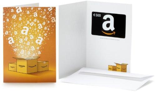 Carte cadeau Amazon.fr - €500 - Dans une carte de vœux...