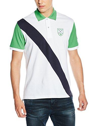 Toro Herren Poloshirt Polo M/C Franja Diagonal Numero Manga mehrfarbig (BLANCO/VERDE CLARO)