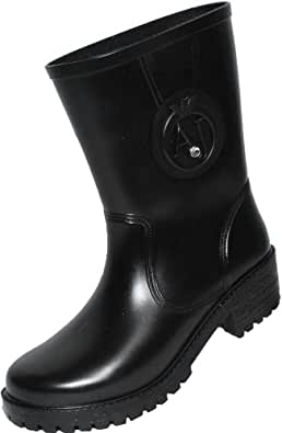 Armani Jeans Half Wellington Boots (EU 38 / UK 5.5, Black)