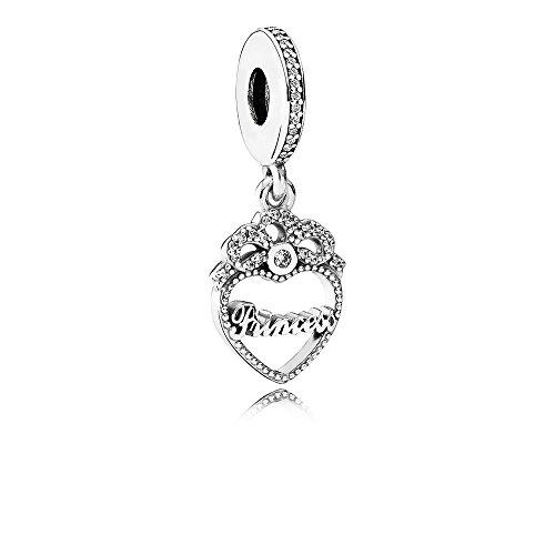 Pandora 791962CZ Herz Princess Charm-Anhänger -Neuheit 2016