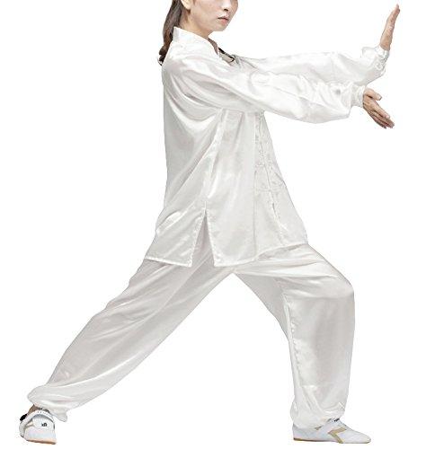 Qi Gong,Tai Chi & Meditations Anzug Unisex in 2 Farben (Weiss, Köpergröße:160cm)