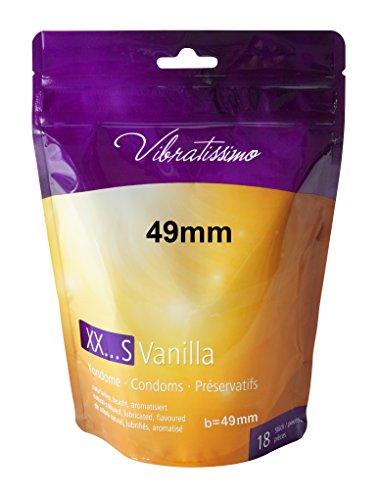 """AMOR Vibratissimo\""""Meine Größe 49mm\"""", 18er Pack naturfarbene Premium Kondome mit Vanillearoma, gefühlsecht und genau maßgeschneidert auf die individuelle Größe des Geschlechts angepasst"""