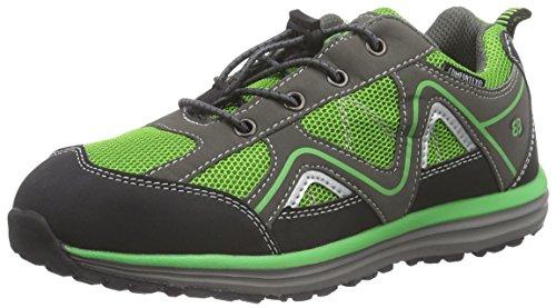 Bruetting Minnesota Unisex-Kinder Trekking & Wanderhalbschuhe Mehrfarbig (grün/grau)